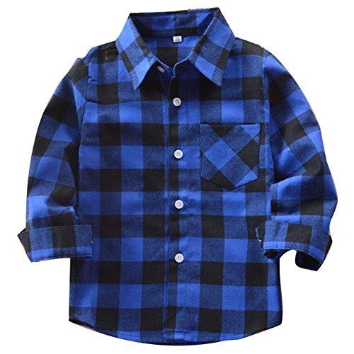 Yying Camisa Niño Manga Larga - Camisa Cuadros Blusa