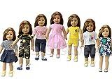 ZITA ELEMENT® Vêtements de poupées:7pcs Mode Costumes Tenues Pour Poupée 18 Pouces Poupée bébé 45cm-46cm American Girl Madame Alexander Our Generation Dolls Clothes Vêtements Cadeau Noël