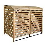 MCombo Mülltonnenbox Mülltonnenverkleidung, Holz