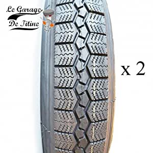 Lot 2 pneus 125/15 Citroën 2CV Méhari Dyane Ami 6 et 8