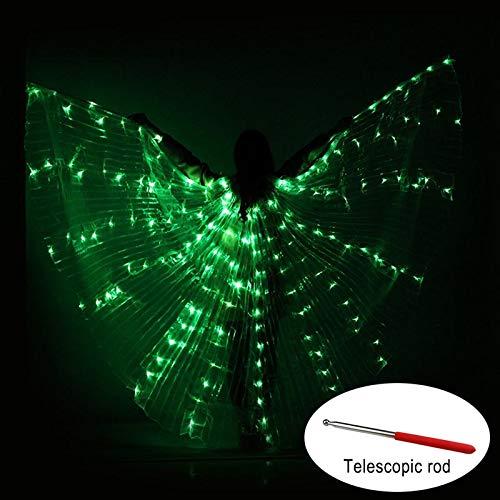 Soulitem Tanz LED Flügel Leuchten Halloween Kostüme Bühnenperformance Kleidung für - Fließende Tanz Kostüm