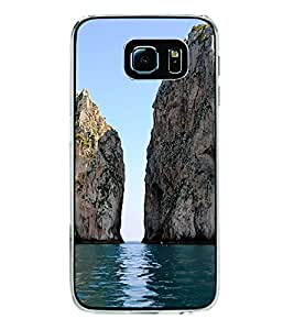 Dual Rock in Sea 2D Hard Polycarbonate Designer Back Case Cover for Samsung Galaxy S6 G920I :: Samsung Galaxy G9200 G9208 G9208/SS G9209 G920A G920F G920FD G920S G920T