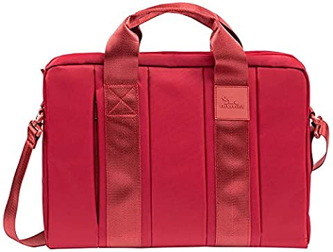 RIVACASE 8830 Hyde 15.6'' Laptop Bag, Slim, Ultra Strong, Reliable, Red