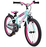 BIKESTAR Premium Sicherheits Kinderfahrrad 20 Zoll für Mädchen und Jungen ab 6 Jahre ? 20er Kinderrad Mountainbike ? Fahrrad für Kinder Berry & Türkis