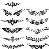 Drawihi Herren- und Damen Anzüge Seitenarm Totem Bauchstreifen Einzelne Flügel Wasserdicht Tattoo Aufkleber Tattoos für weibliche männer
