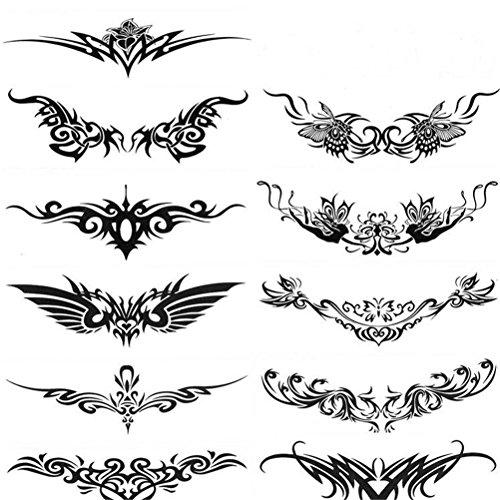 Drawihi Herren- und Damen Anzüge Seitenarm Totem Bauchstreifen Einzelne Flügel Wasserdicht Tattoo Aufkleber Tattoos für weibliche männer (Haut-anzüge Halloween Für Kinder)