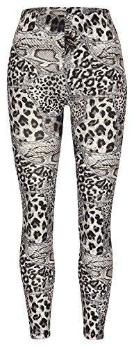 Soxon Damen Legging bedruckt Leopard
