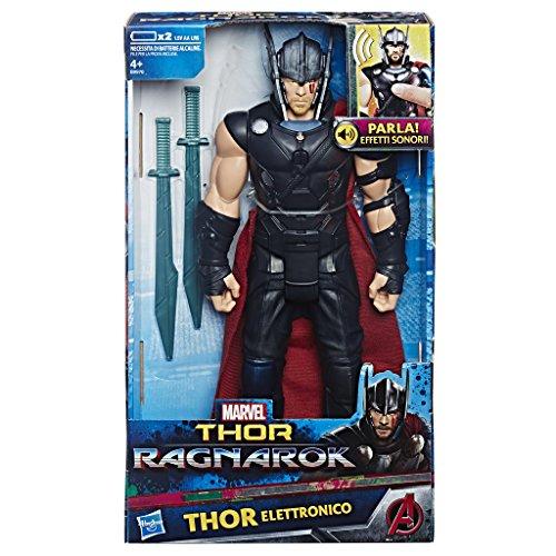 Hasbro marvel avengers marvel thor ragnarok - thor titan elettronico
