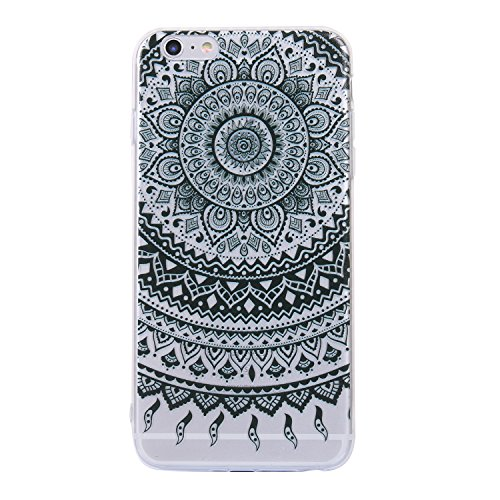 iphone 6 Plus/6s Plus Handyhülle,iphone 6 Plus/6s Plus Silikon Hülle,Cozy Hut 3D Handyhülle Muster Case Cover Für iphone 6 Plus/6s Plus Liquid Crystal Ultra Dünn Crystal Clear Transparent Handyhülle S Schwarzes Mantra