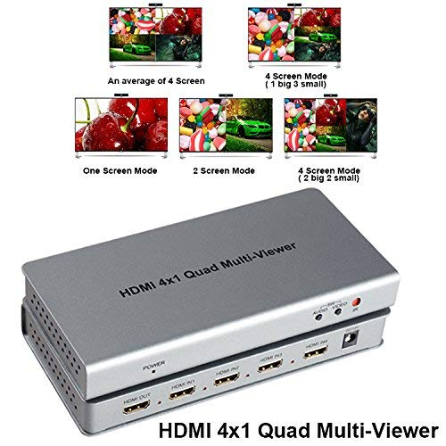 DMI Splitter HDMI Switcher Quad Multi-Viewer Quad Video Splitter