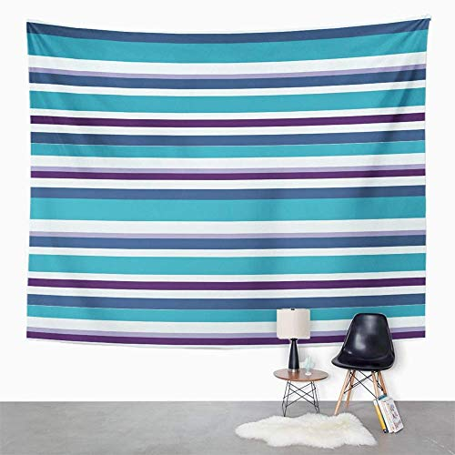 Eriesy Tapestry Wall Hanging Blue Abstract Strip Colorful Artistic Band Bright Color Contrast Creative Cute Wall Hanging for Bedroom Living Room Dorm 130x150cm (Living Color-band)