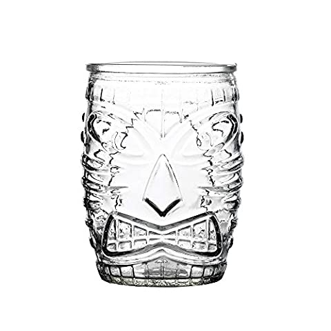 Tiki Old Fashioned Tumbler 16oz / 450ml - Set of 4 - Hawaiian Style Cocktail Glassware