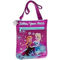 Disney Frozen Elsa & Anna Tracolla Tasca Anteriore, Colore: Rosa, 0,48 Litri