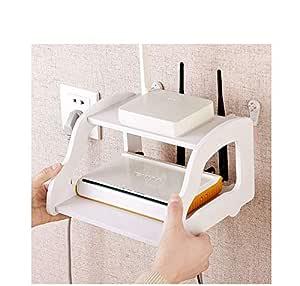 MK TV Setup Box Wall Shelf WiFi Stand Mounted Rack Holder 14 * 21 * 22 cm