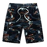 Uomo Beach Shorts Pantaloncini da Spiaggia Stampati Casual da Uomo Plus Size Beachwear Calzoncini da Bagno Stampato Sexy con Drawstring Regolabile Tinta Unita LianMengMVP
