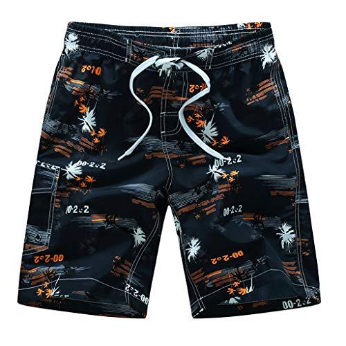 Slinky Herren Shorts (JMETRIC_Badehose Herren Freizeit Locker Kurze Shorts Schnell Hosen am Strand Vintage-Druck Strandhosen Surfen M-6XL (Orange,L))