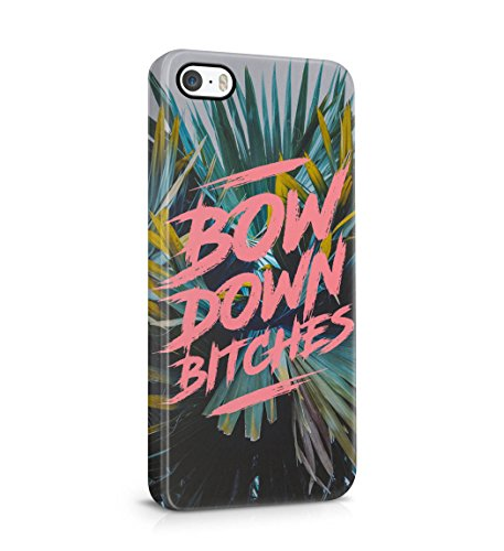 Bow Down Bitches Tropical Palms Snap On Back Plastic Phone