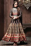 Ankit Fashions Party Wear Multicolour Art Silk Printed Ready Made Dress