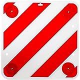 ProPlus Waarschuwingsbord met reflectoren 50x50 rood wit waarschuwingsbord incl. reflectoren voor woonbeeld of caravan.