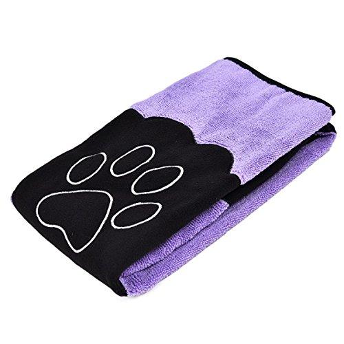 Mikrofaser Handtuch für Katzen und Hunde Towel in 3 Farben saugfähig (Lila)