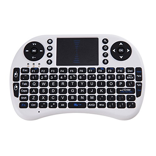 Teclado Inalámbrico Demiawkaing 2.4G Teclado Inalámbrico de Aire Ratón QWERTY Remoto Touchpad...