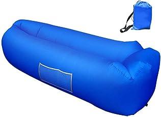 Veamor Aufblasbares Sofa, Tragbares Wasserdichtes Lounger Schlafsack Seitentaschen Air Sofa Kissen Gartenfreizeit Schlafsack-kampierender Outdoor für Camping Wander, Schwimmbad- und Strandparties