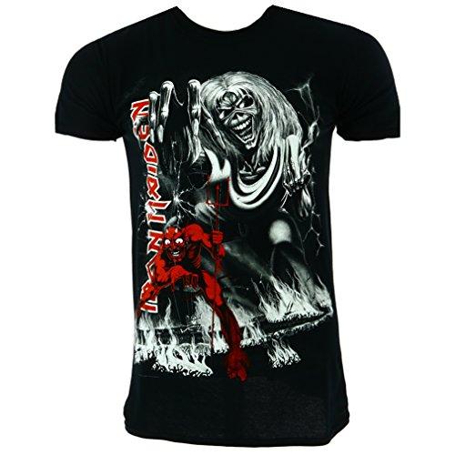 Iron Maiden Number of the Beast Jumbo Camiseta negro Oficial Con licencia Música