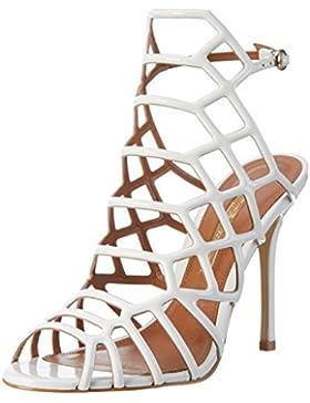 Buffalo London Damen Zs 5164-15 Patent Knöchelriemchen Sandalen
