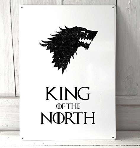 Artylicious King of The North, Game of Thrones Quote A4Retro Metal Sign Door Wall Art