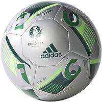Adidas Euro16 Glider - Balón de fútbol, Color Plata/Azul / Verde, Talla 5