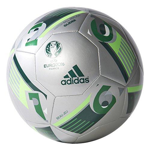 adidas Euro16 Glider - Balón de fútbol, color plata / azul /...