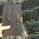 Blocco Note di Viaggio Retrò Fatto a Mano Vera Pelle Sei Fori Loose-Foglia Cartella di Lavoro Sub-Notebook 80 g di Carta Daolin 85 Fogli