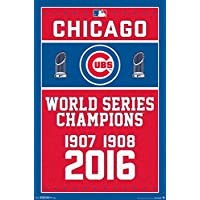 Chicago Cubs 3-Time World Series Champions MLB Poster RP15449