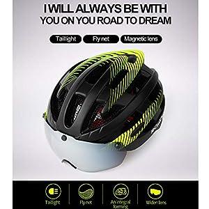 IrahdBowen Sport Fahrradhelm Mountainbike Magnetische Saugbrille Helm Männer Und Frauen Rennrad Schutzhelm Fahrrad Ausrüstung Sport Fahrradhelm
