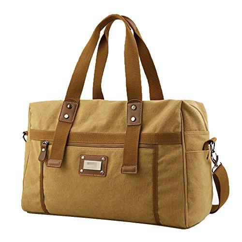 Männer Weekender Overnight Tote Bag übergroße Reise Handtasche Duffels Canvas Bag,Yellow-M