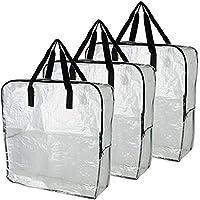 IKEA DIMPA Lot de 3 sacs de rangement XL transparents et résistants à l'humidité