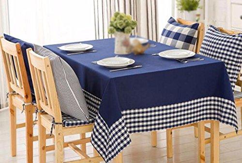 WFLJL Nappe Épaississement Restaurant Table de Salon Salle à Manger Table Rectangle High-End IMPERMÉABLE Bleu 120*cm