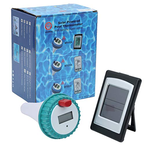 Heaviesk Wireless Digital Swimming Pool SPA schwimmendes Thermometer Wireless Pool Spa Whirlpool Thermometer