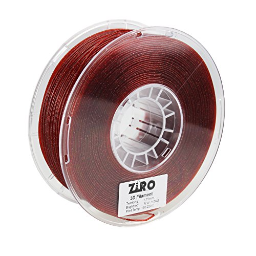 ZIRO 3D Drucker Filament PLA 1,75mm Funkeln Color Series 1kg (1), maßhaltigkeit +/-0,05mm