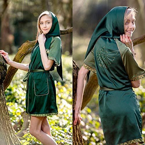 The Legend of Zelda Loungewear Zelda - Breath of The Wild Zelda Satin Bathrobe Green-S/M