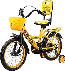 Hollicy Funtoosh 16 Plastic Bicycle, Kids 16-inch (Yellow/Black)