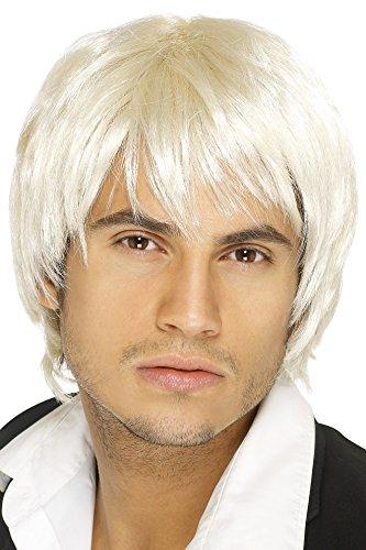 Smiffys Herren Kurze und Glatte Perücke, Boyband Perücke, Blond, One Size, 42068 (Perücken Für Halloween-kostüme)