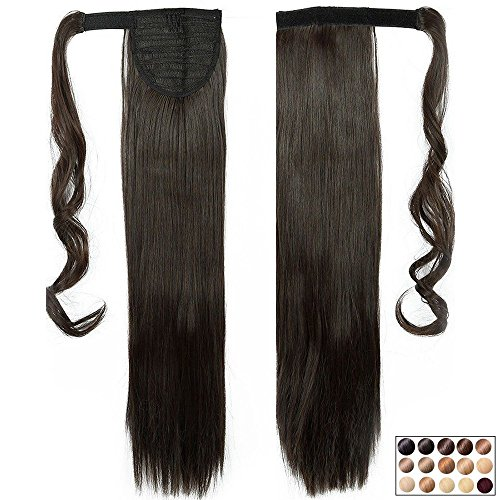 Clip in Extensions Pferdeschwanz Haarteil Glatt Ponytail Extensions günstig Haarverlängerung 26