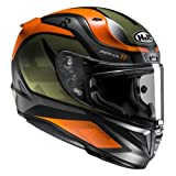 HJC Motorradhelm RPHA 11 Deroka MC7SF, Schwarz/Orange, Größe XS