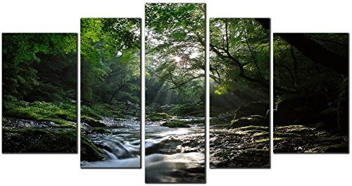 obella-new-wall-art-canvas-prints-5-pieces-forest-stream-inner-framed-ready-to-hang-oil-paintings-pr