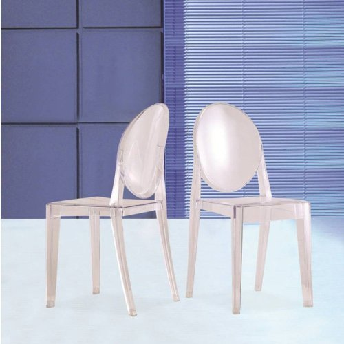 Fine Mod Imports Decorative Furniture Clear Side Chair, Clear by Finemod Imports
