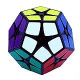 EasyGame Magic Cube 2x2 Liso Megaminx Speed Cube Dodecahedron Puzzle Negro, etiqueta fue terminado.