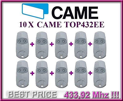 10-x-came-top432ee-2-canali-mando-remoto-43392-mhz-10-piezas-de-alta-calidad-original-came-mandos-pa