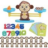 Schimer Cartoon Tier Balance Skala Math Spiel, das pädagogisches Spielzeug der Kinder Lernt AFFE Balance Anzahl Zählen Spiel Spielzeug Kinder Frühe Intelligente Lernspielzeug für Kind Kind Vorschule