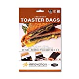 JWP Toaster Taschen, Teflon, Schwarz, 2Stück